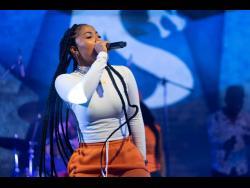Shenseea performing at Sumfest on Friday night.