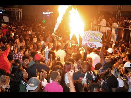 Patrons react to music at a fiery edition of Ratingz held last year.