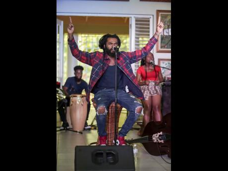 Dre Island performs during Digicel's Online Cameo Concert.