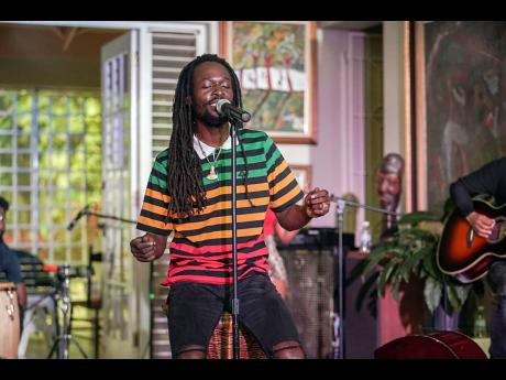 Jesse Royal performs during Digicel's Online Cameo Concert.