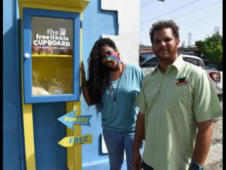 De-Andrea Jackson and Kyle Reynolds started The Free Likkle Cupboard  last year to help  people who  are in need  of food.