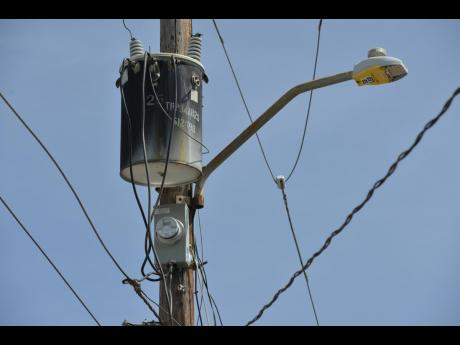 The meter which the residents have identifed as to where the Jamaica Public Service cuts the power daily. Residents say they are tired of the power outages.