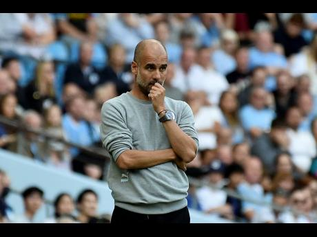 Man City's head coach Pep Guardiola